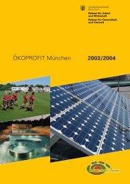 ÖKOPROFIT München 2003/2004 - Referat für Arbeit und Wirtschaft