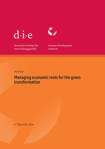 Managing economic rents for the green transformation