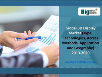 in-depth analysis of Global 3D Display Market 2013-2020