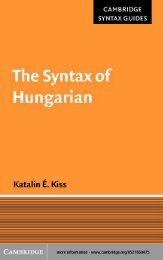 Hungarian syntax.pdf - Cryptm.org