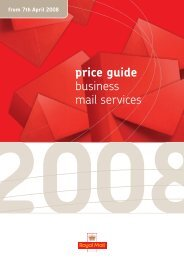 price guide business mail services