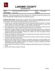 Public Works Operations Supervisor - Laramie County