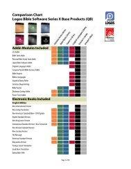Comparison Chart Logos Bible Software Series X ... - Discount Bible