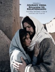 JOURNEY FROM RELIGION TO RELATIONsHIps - Outreach