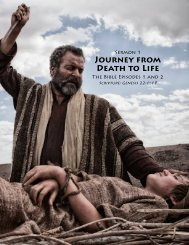 JOURNEY FROM DEATH TO LIFE - Outreach