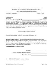 Purchase and Sale Agreement - Musser Bros. Auctioneers