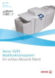 Xerox® 4595 Multifunktionssystem Ein echtes Allround-Talent