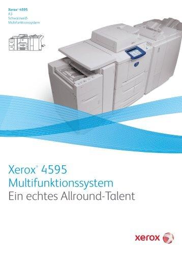 Xerox® 4595 Multifunktionssystem Ein echtes Allround-Talent