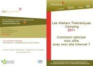 Les Ateliers Thématiques Camping 2011 Comment ... - Ain-pro.com