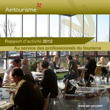 Rapport d'activité 2012 - Ain-pro.com