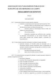Leia o Regulamento - Associação dos Funcionários Públicos de ...