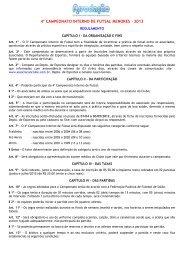Regulamento do Campeonato - Associacaoclube.com.br