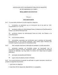 Regulamento do Estatuto - Associação dos Funcionários Públicos ...