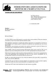 lettre à Philippe Maugé, directeur du développement de ... - Fluvialnet