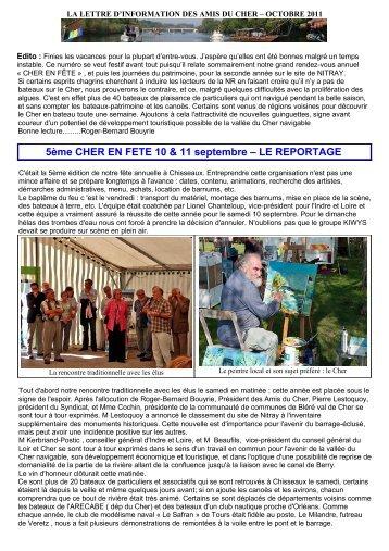 Octobre 2011 - Accueil - LA LETTRE D'INFORMATION DES AMIS ...