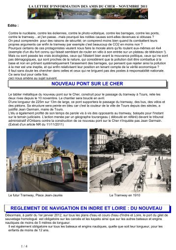 Novembre 2011 - Accueil - LA LETTRE D'INFORMATION DES AMIS ...