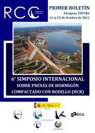 6º simposio internacional sobre presas de hormigón compactado con ...