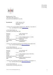 1 Handelsgericht Wien 1030 Wien, Marxergasse 1a Tel: 01/51 52 8 ...