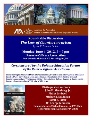 Roundtable Discussion on The Law of Counterterrorism