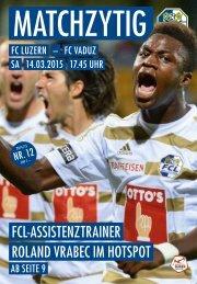 FC LUZERN Matchzytig N°12 14/15 (RSL 24)