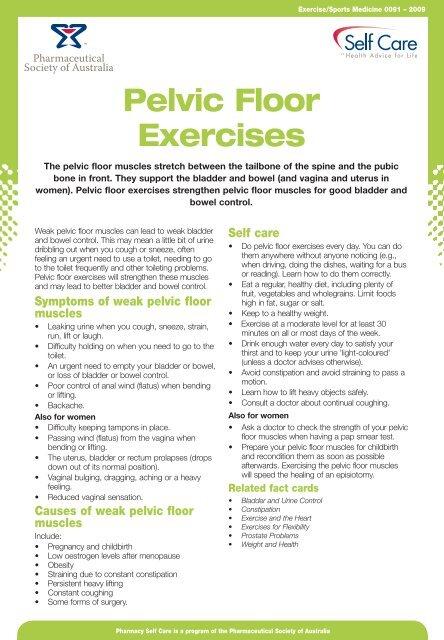 Pelvic Floor Exercises [ 211 KB]