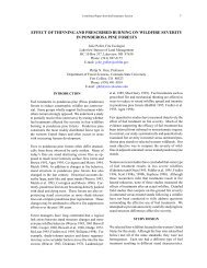 effect of thinning and prescribed burning on wildfire severity in ...