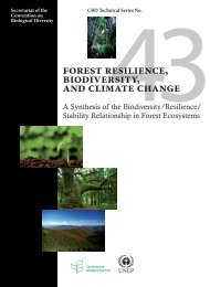 Forest Resilience, Biodiversity, and Climate Change. A synthesis of ...