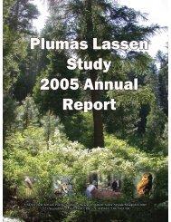 Plumas Lassen Study 2005 Annual Report - USDA Forest Service
