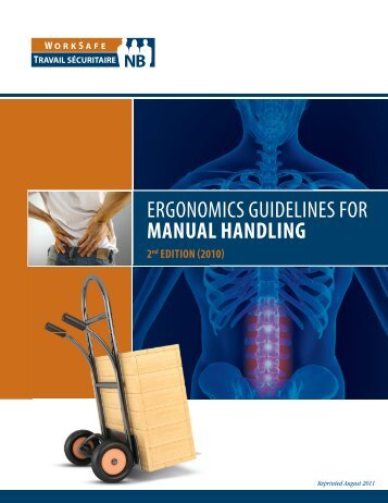 ERGONOMICS GUIDELINES FOR MANUAL HANDLING