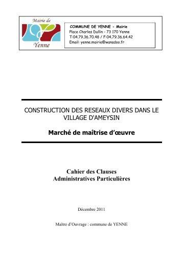 CCAP déc 2011 - Mairie de Yenne