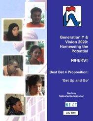 Best Bet 4 Proposition: 'Get Up and Go' - NIHERST