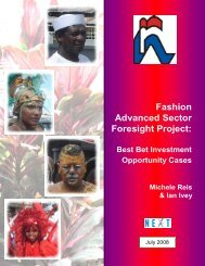 Fashion Advanced Sector Foresight Project: - NIHERST