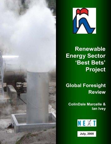 Renewable Energy Sector 'Best Bets' Project - NIHERST