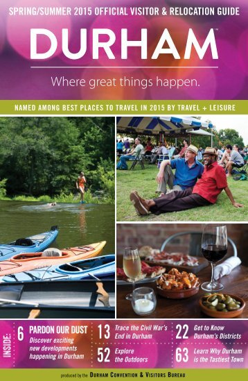 Durham Spring/Summer 2015 Official Visitor & Relocation Guide