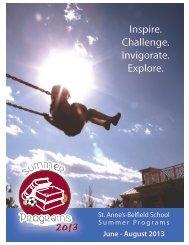 Summer Programs Brochure - St. Anne's Belfield School