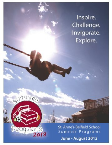 Summer Programs Brochure - St. Anne's Belfield School
