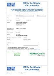 IECEx Certificate of Conformity IECEx Certificate ... - Marin Supply AS