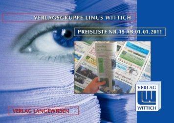 Mediadaten V + D LINUS WITTICH Langewiesen ab 1.1
