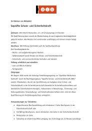 Geprüfte Schutz- und Sicherheitskraft - BIB Augsburg gGmbH
