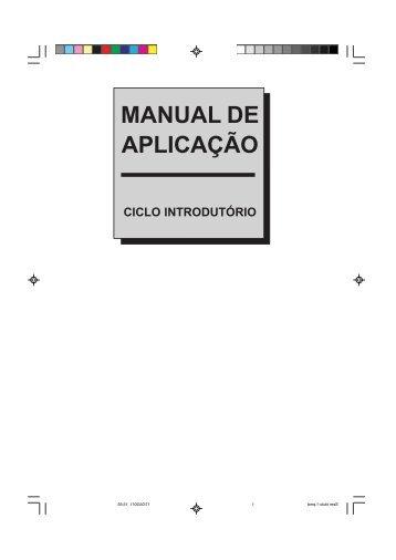 manual de aplicação ciclo introdutório - Centro Espírita
