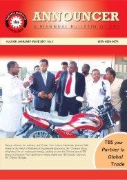 Announcer   January - June 2011 - Tanzania Bureau of Standards