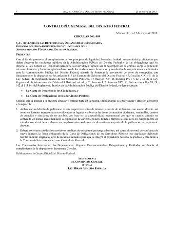 contraloría general del distrito federal - Gobierno del Distrito Federal