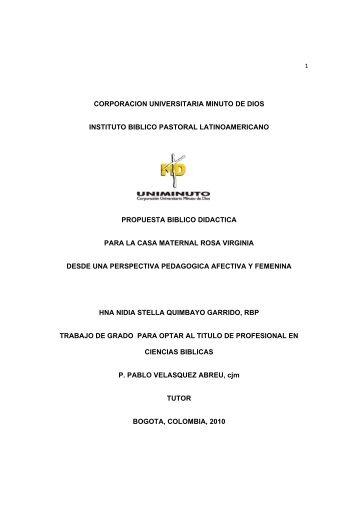 corporacion universitaria minuto de dios instituto biblico pastoral ...