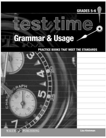Grammar & Usage