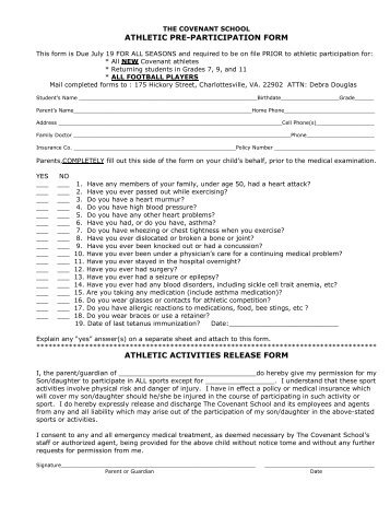 UIL Physical and Medical History Forms - Keller Independent School ...