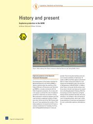 History and present - Explosion protection in the BAM - r. stahl