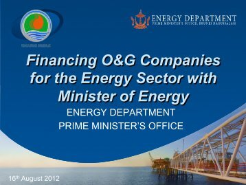 Tax Incentives - Energy Department, Prime Minister's Office