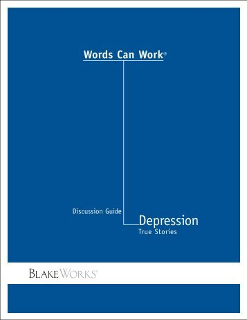 Depression Guide 8-07 V3 - Words Can Work