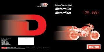 Motorroller Motorräder - Derbi Deutschland