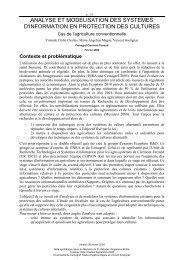 Analyse et modelisation des systemes d'information en protection ...